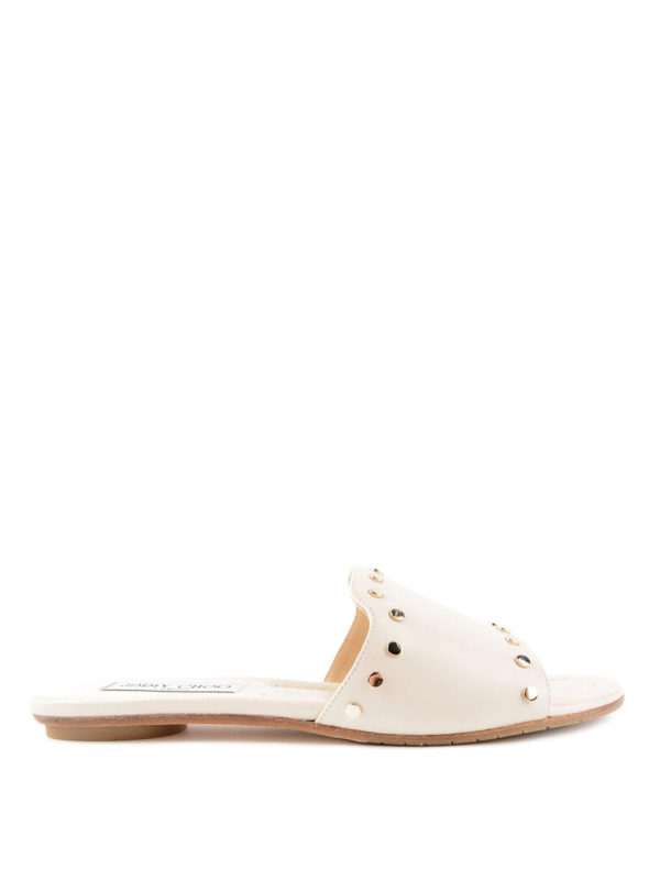 Jimmy Choo: Sandalen - Sandalen - Weiß