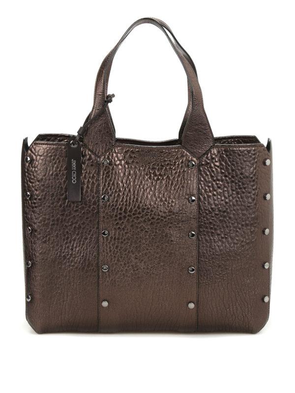 JIMMY CHOO: Handtaschen - Shopper - Bronze