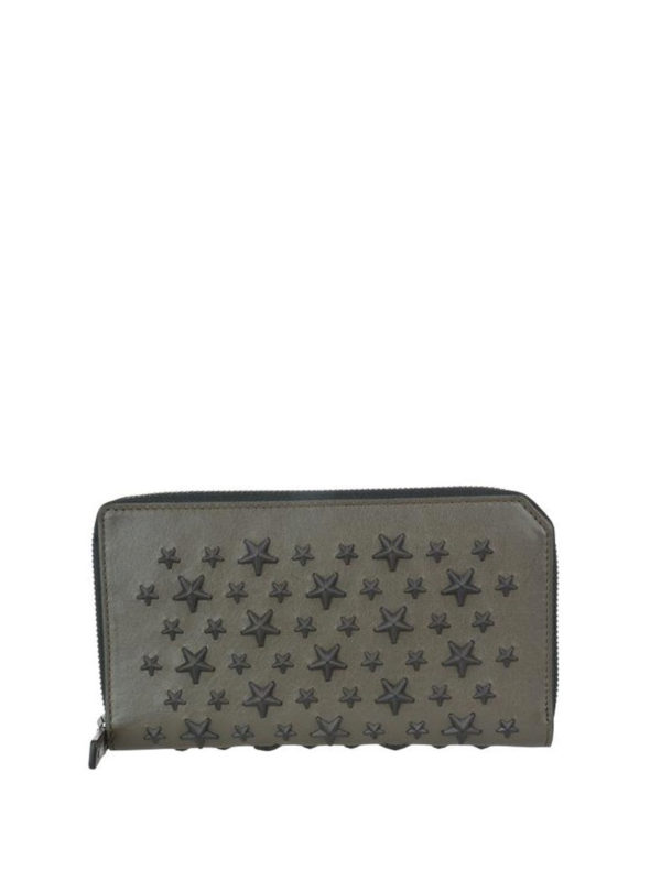 JIMMY CHOO: wallets & purses - Carnaby wallet with mixed stars