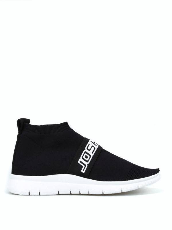Logo embroidery band sock sneakers
