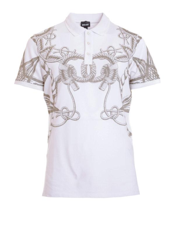 Just Cavalli: polo shirts - Sea pattern printed polo