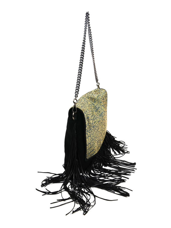 Just Cavalli: Schultertaschen online - Suede shoulder bag with mini studs