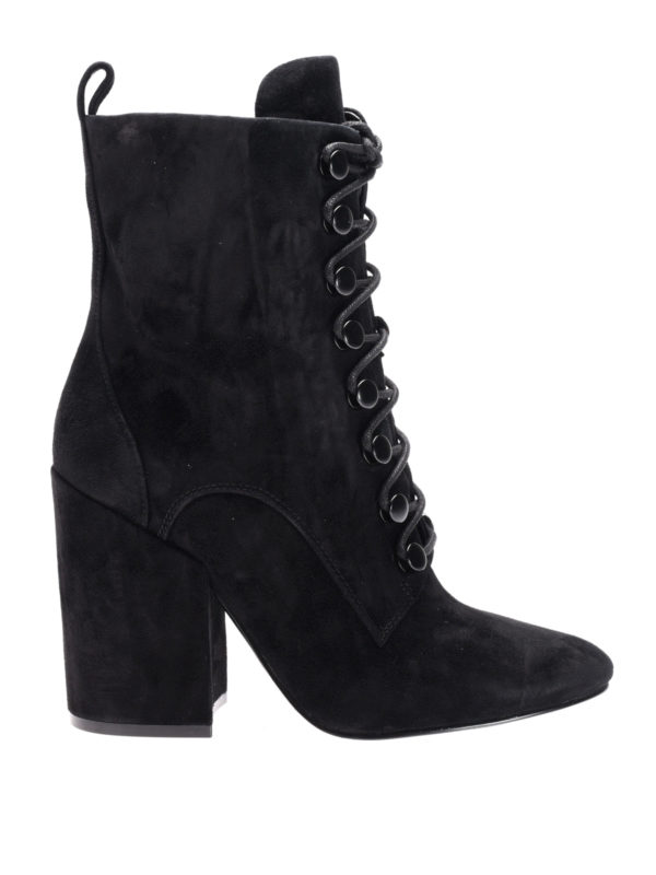 Kendall + Kylie: boots - Bridget lace-up suede boots