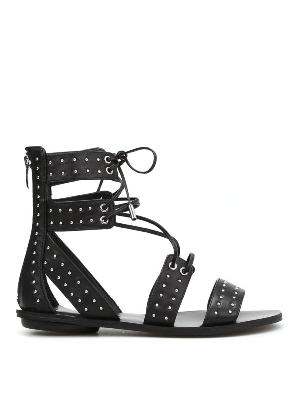 Kendall + Kylie: sandals - Fabia slave leather sandals