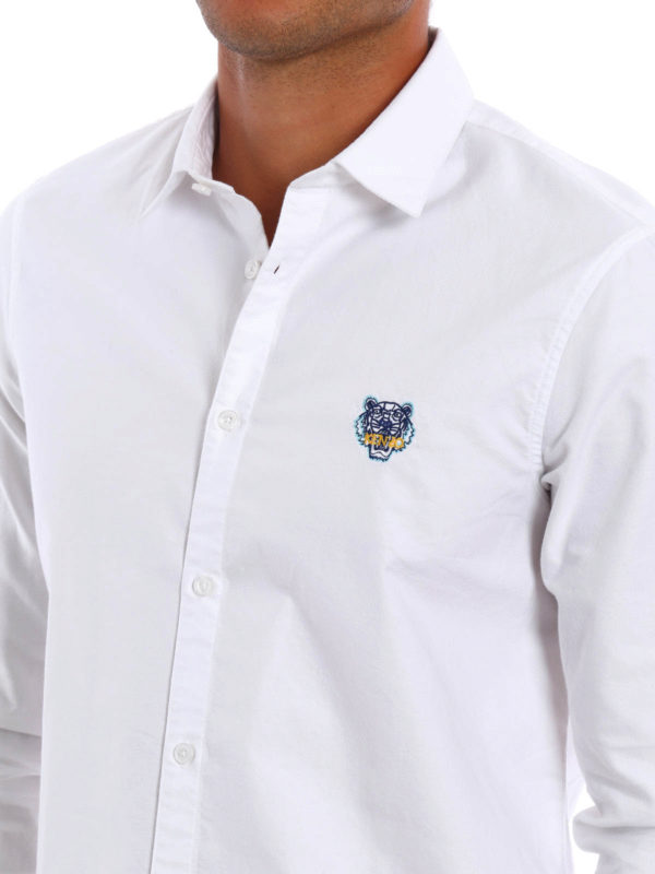 KENZO buy online Embroidered Tiger oxford shirt