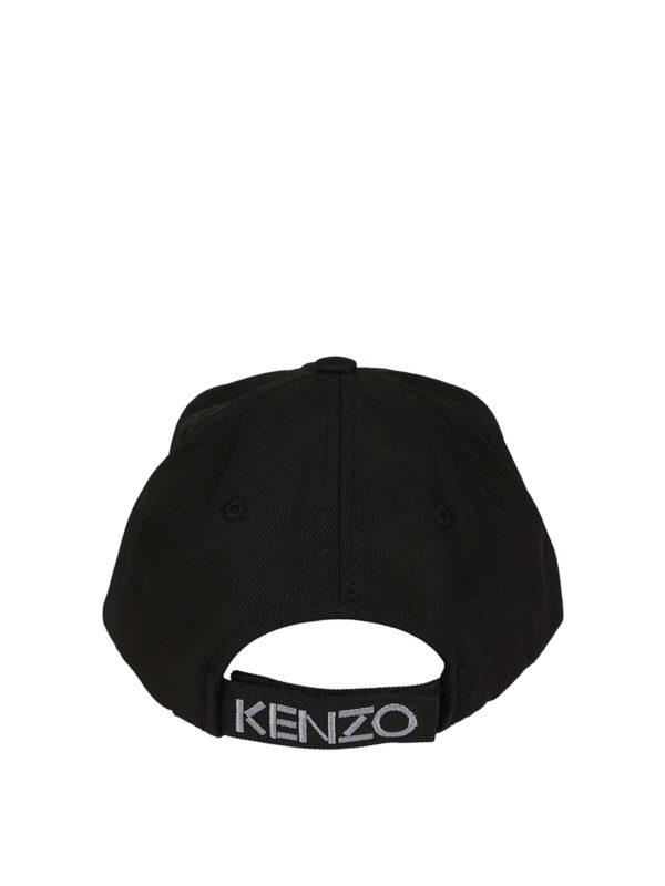 d069d131 Kenzo - Tiger black canvas baseball cap - hats & caps - F855AC301F2099