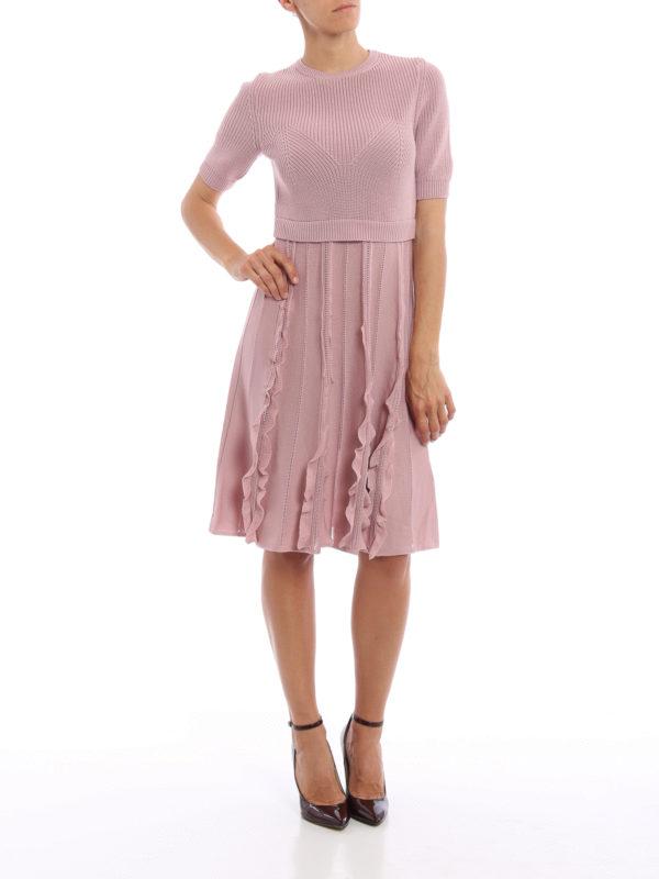 Knielanges Kleid - Einfarbig shop online: Valentino