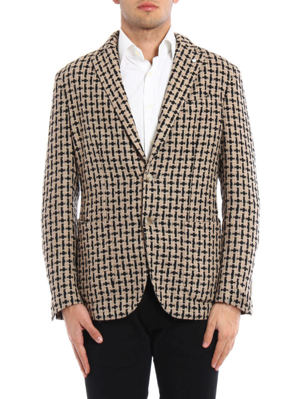L.B.M 1911: blazers online - Unstructured woven wool jacket