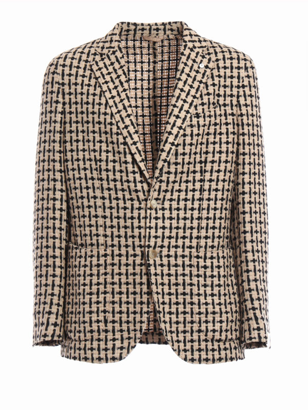 L.B.M 1911: blazers - Unstructured woven wool jacket