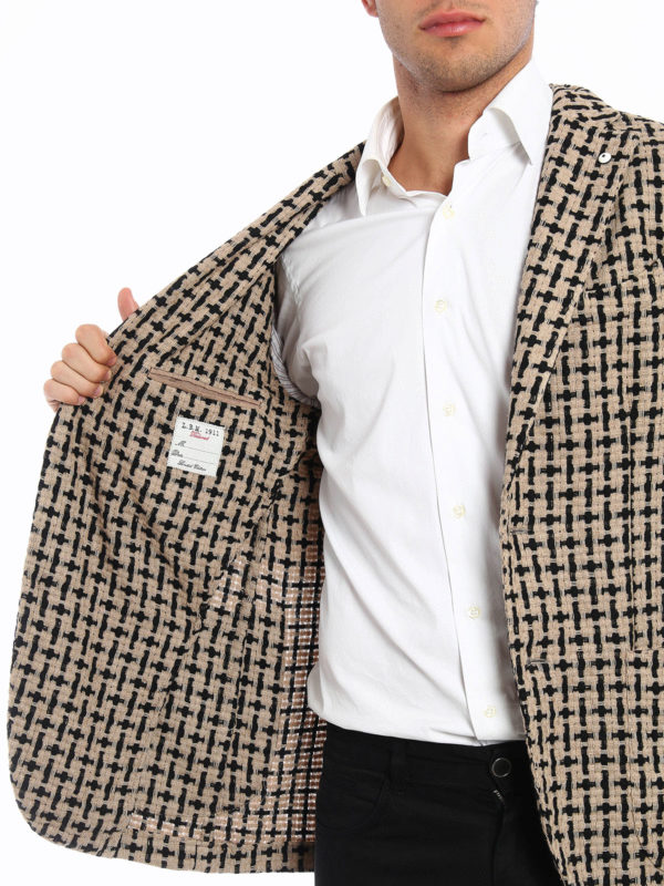 L.B.M 1911 buy online Unstructured woven wool jacket