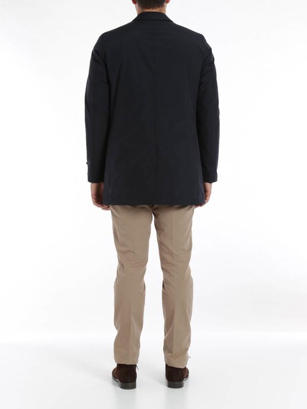 Laminar raincoat shop online: Herno