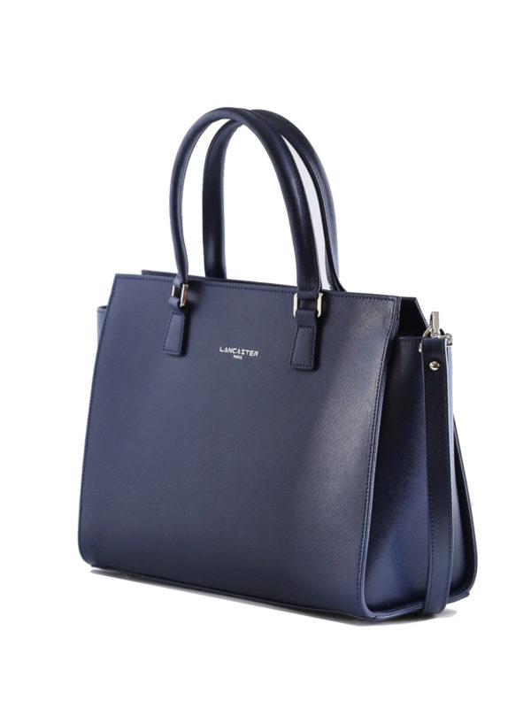 LANCASTER: totes bags online - Blue Saffiano leather tote