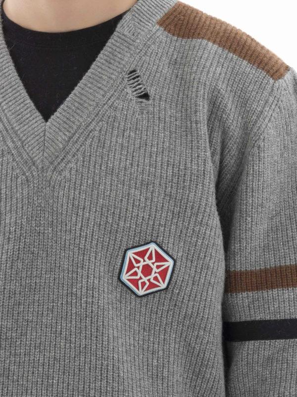 Lanvin buy online V-Pullover - Grau