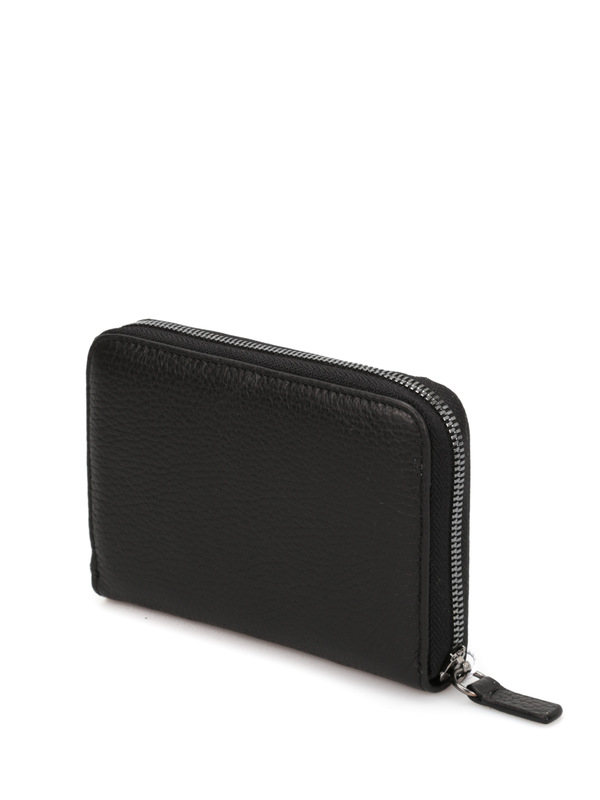 Leather wallet shop online: Armani Collezioni