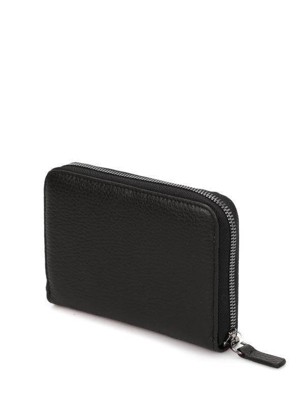 Leather wallet shop online: ARMANI COLLEZIONI