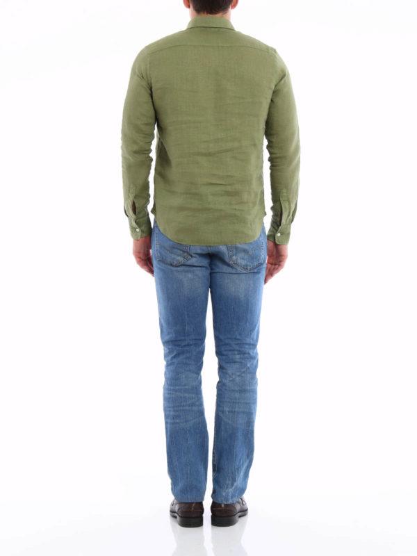 Linen polo-inspired shirt shop online: ASPESI