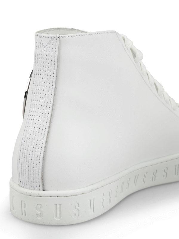 Versus Versace Sneaker alte in pelle con Testa di Leone