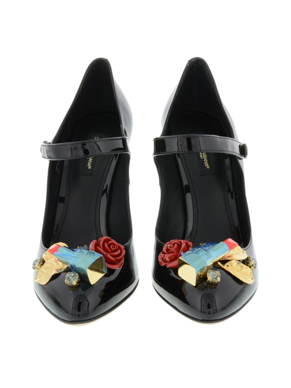 Lipstick patent leather pumps shop online: Dolce & Gabbana