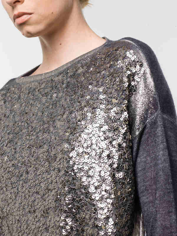 Loose fit sequined top shop online: Avant Toi