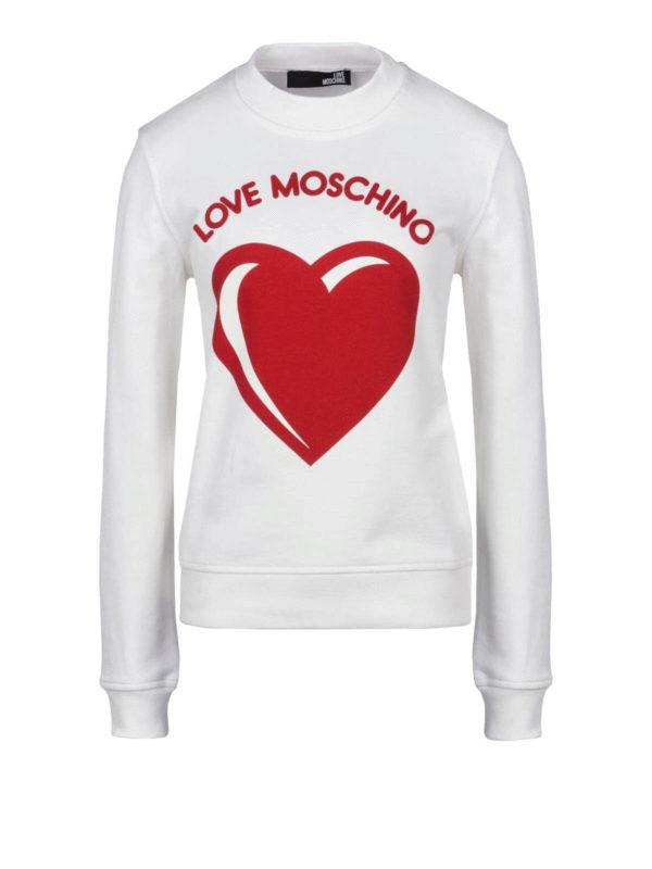 Love Moschino Felpa con cuore e stampa logo Felpe e