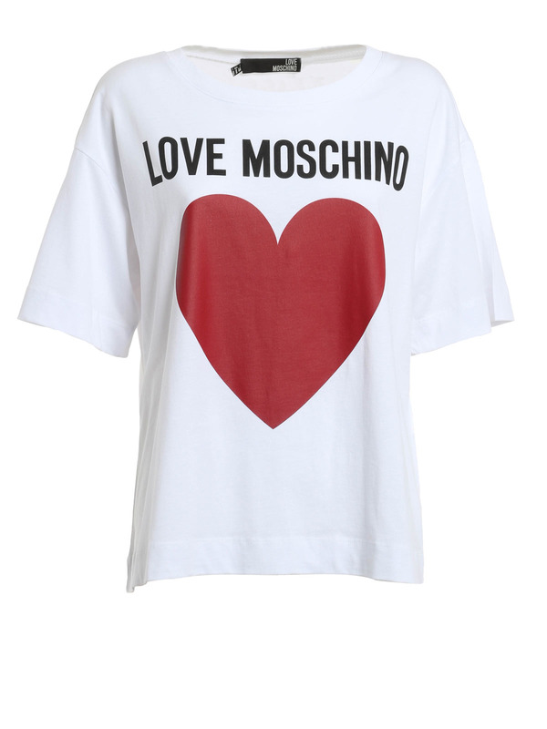 heart and logo t shirt by love moschino t shirts ikrix. Black Bedroom Furniture Sets. Home Design Ideas