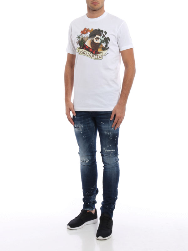 T-Shirt - Gemustert shop online: Dsquared2