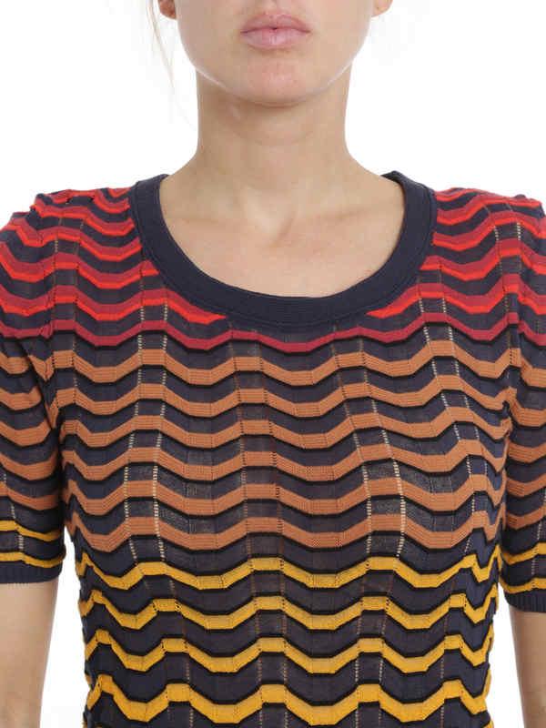 M Missoni buy online Wave striped t-shirt