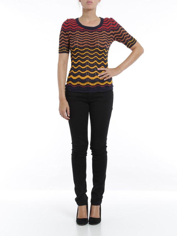 M Missoni: t-shirts online - Wave striped t-shirt