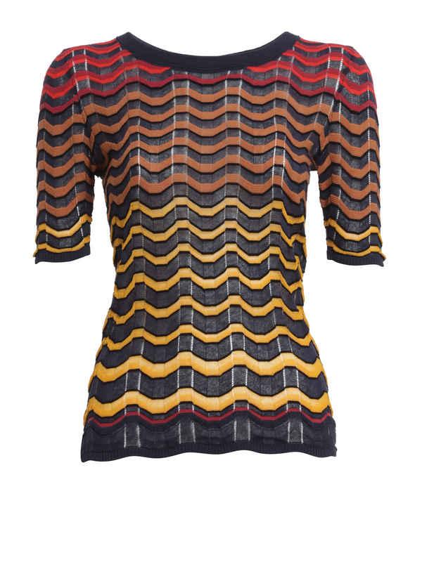 M Missoni: t-shirts - Wave striped t-shirt