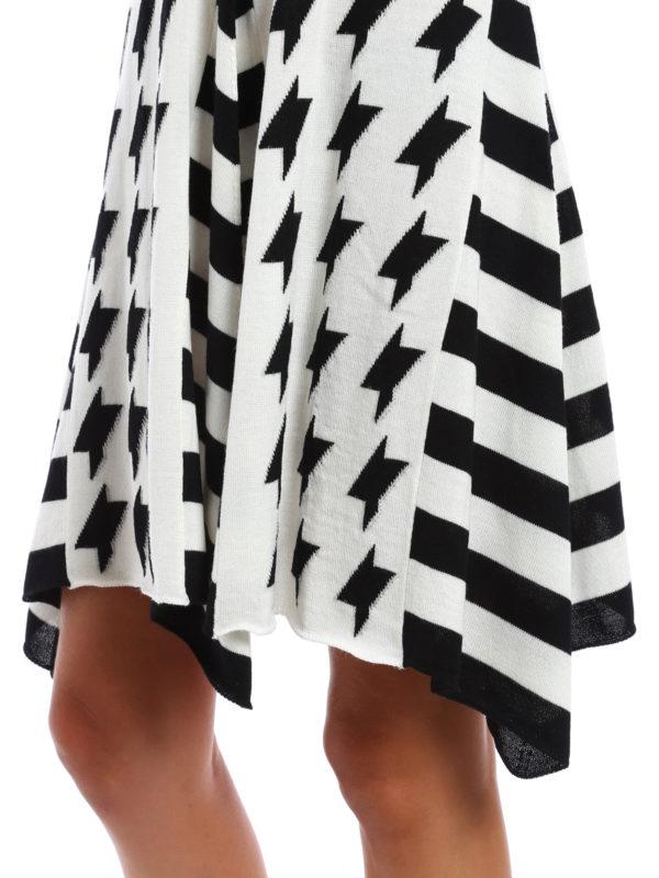 M.S.G.M. buy online Geometric pattern wool skirt
