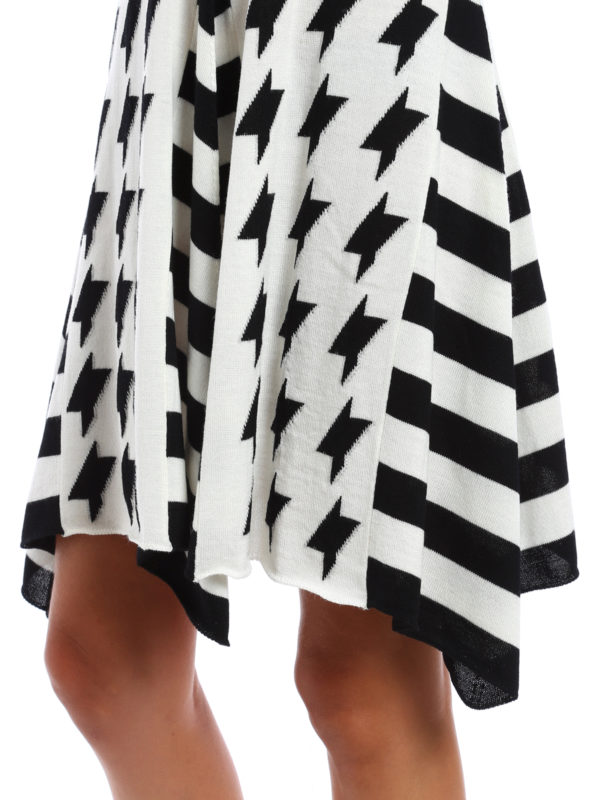 m.s.g.m. buy online Geometric pattern wool skirt