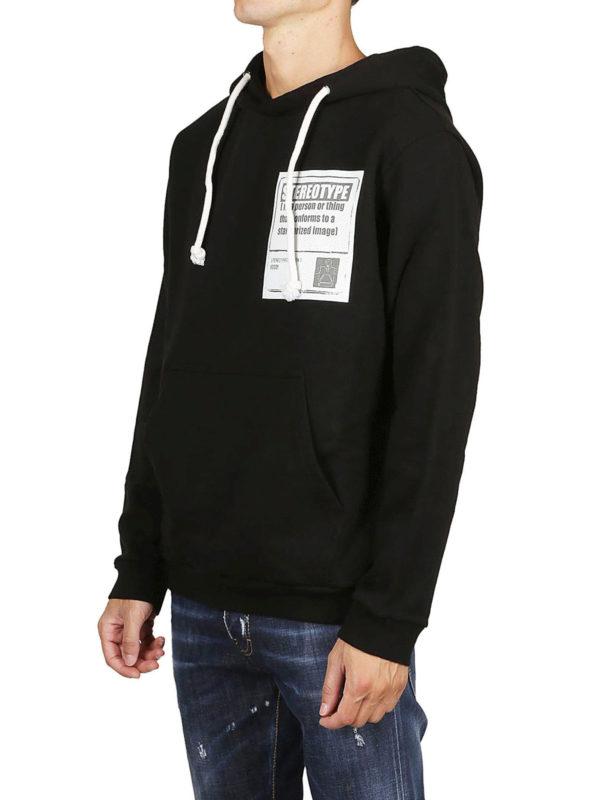 Maison Margiela: Sweatshirts und Pullover online - Sweatshirt - Schwarz