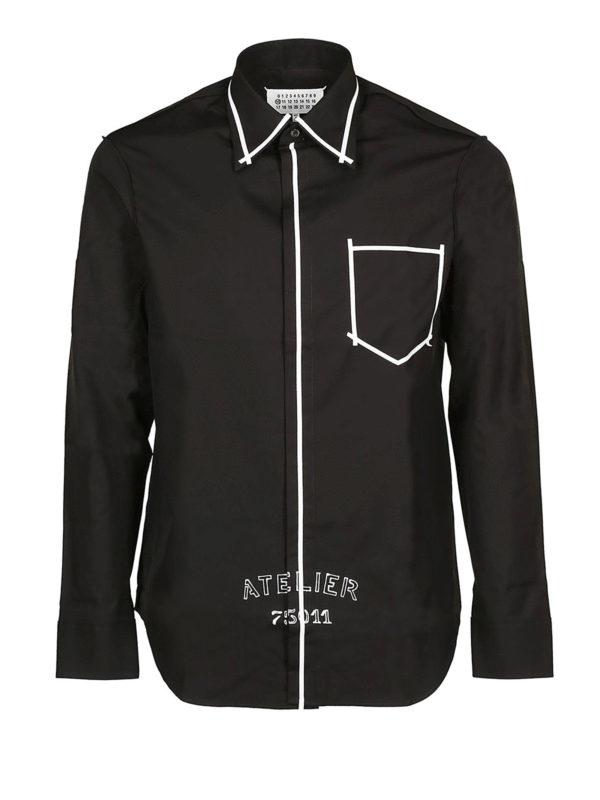 Maison Margiela: Hemden - Hemd - Schwarz