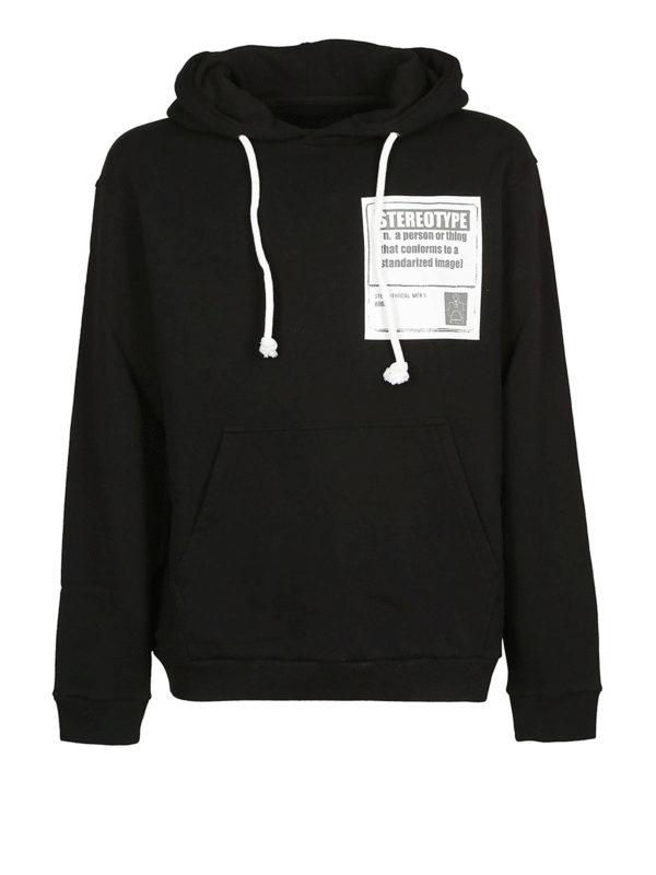 Maison Margiela: Sweatshirts und Pullover - Sweatshirt - Schwarz