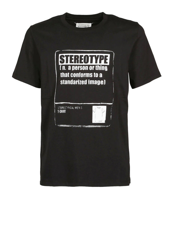 Maison Margiela: T-shirts - T-Shirt - Schwarz