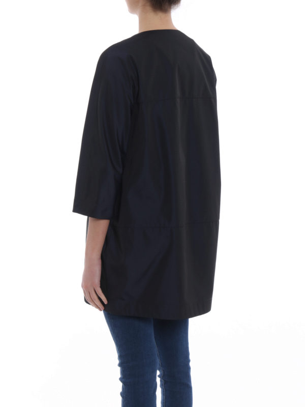 Malaga techno taffeta overcoat shop online: ASPESI