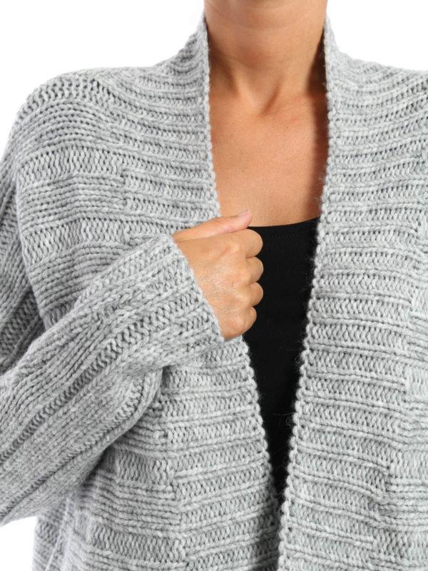 Manila Grace buy online Wool and alpaca crop cardigan
