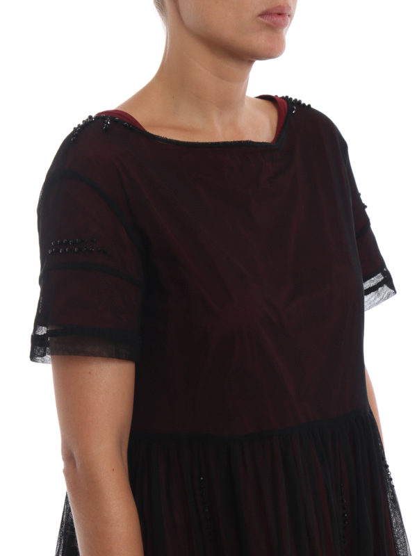 Max Mara buy online Knielanges Kleid - Bordeaux