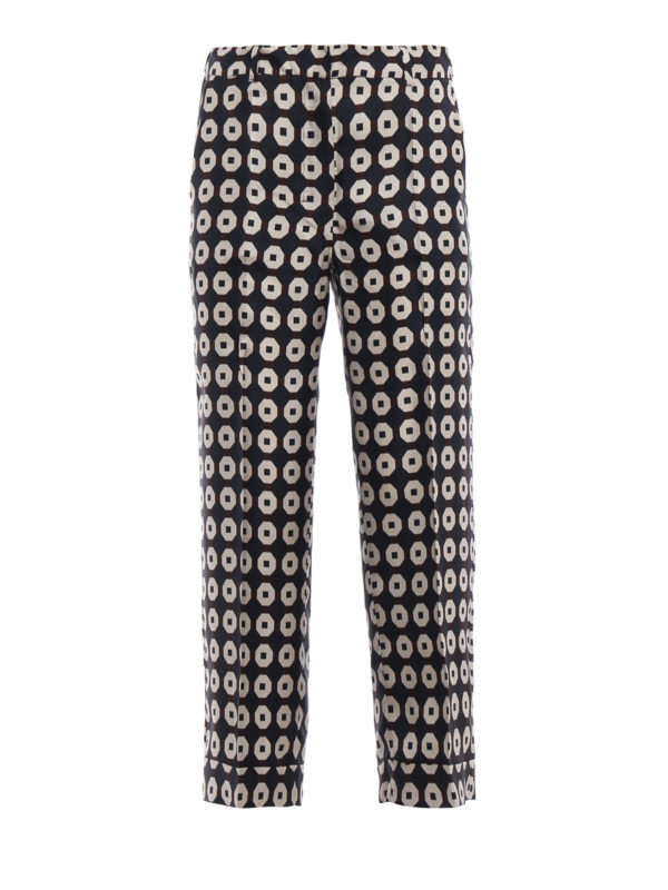 Egidio printed silk pants Max Mara ysc2bx2fU