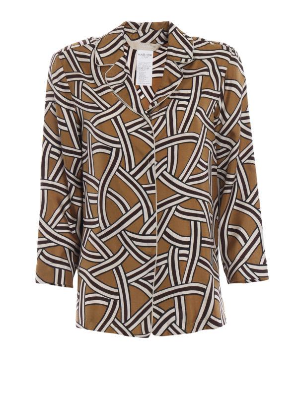 Max Mara: Hemden - Hemd - Bunt