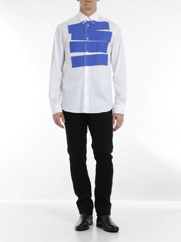 Mcq: Hemden online - Stipe tux shirt