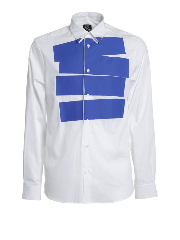 MCQ: shirts - Stipe tux shirt