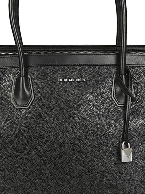 Mercer Studio L black leather tote shop online: MICHAEL KORS