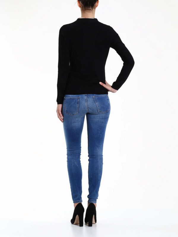Merino wool cardigan shop online: Burberry