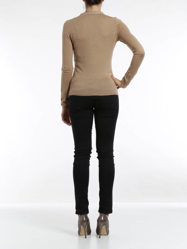 Merino wool cardigan shop online: Burberry Brit