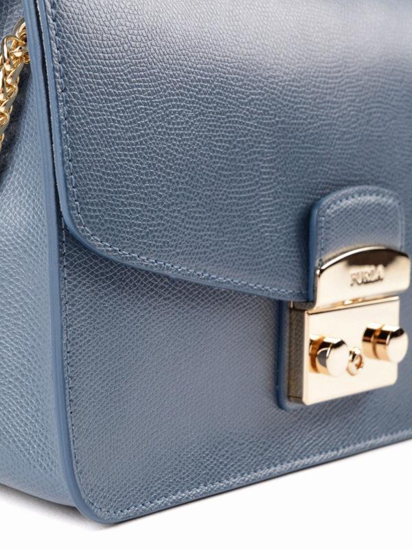 Schultertasche - Blau shop online: Furla
