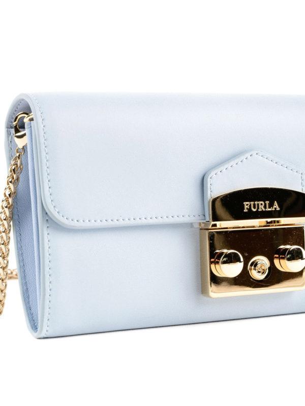 Portemonnaie - Hellblau shop online: FURLA