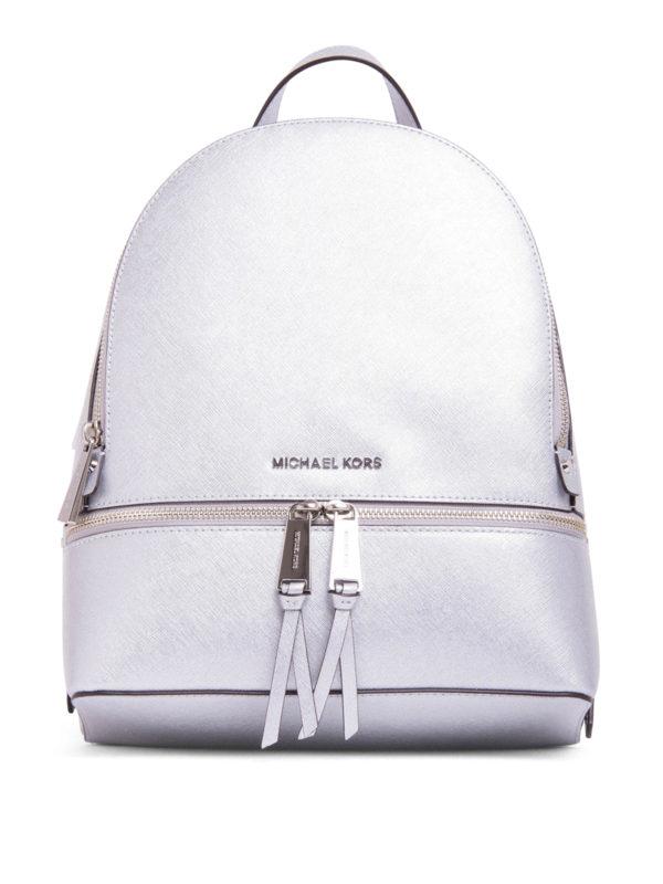 ac576cdfe1f6 Michael Kors - Metallic Saffiano Rhea backpack - backpacks ...