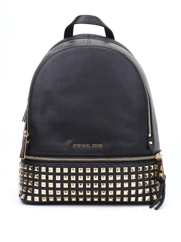 MICHAEL KORS: backpacks - Rhea medium studded backpack