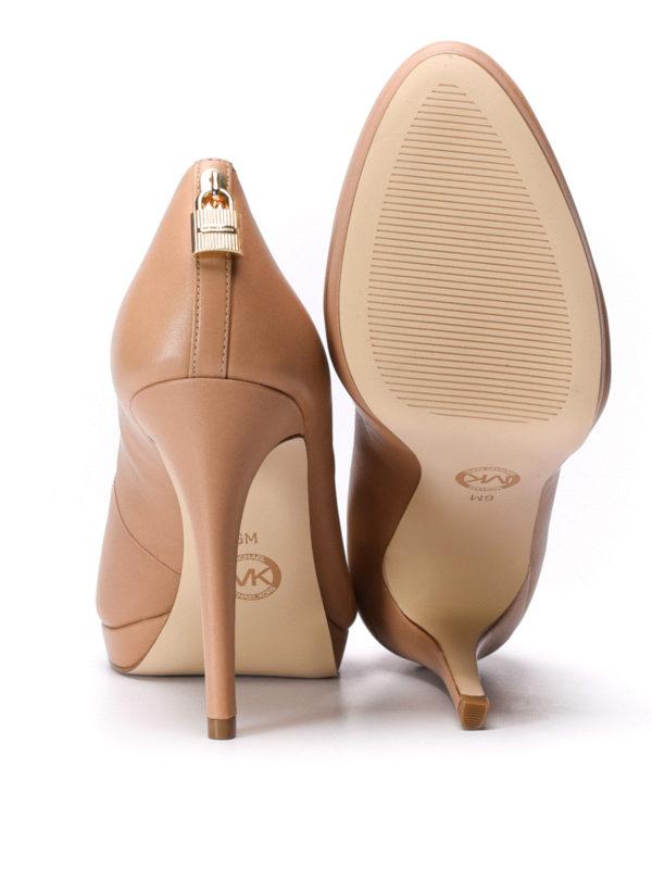 Michael Kors buy online Antoinette leather platform pumps